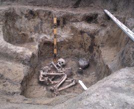 Выявленный объект грунтового могильника «Черниха-1» (эпохи поздней бронзы – II тысячелетие до н.э.)