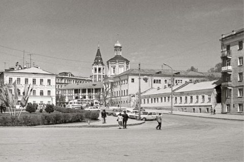 Фото 1930-е гг. Вид на центральную часть г. Саратова со стороны реки Волги.